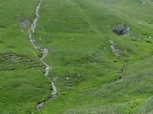 Prise d'eau d'un canal sur les hauteurs d'Arvieux